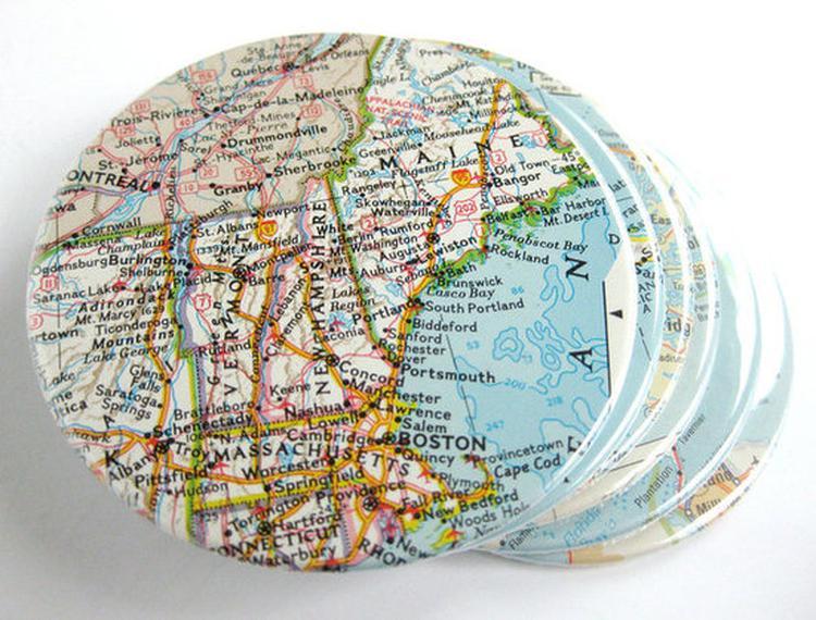 onderzetter van de landkaart