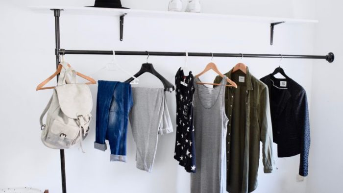kledingrek van steigerbuizen