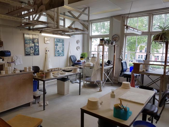 Delfts blauw werkplaats