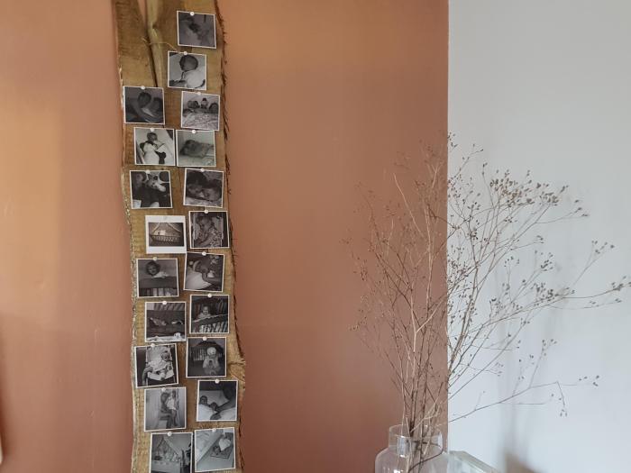 foto's op een plank