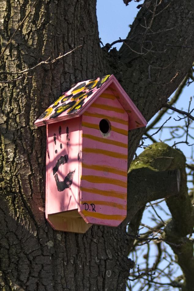 roze vogelhuisje