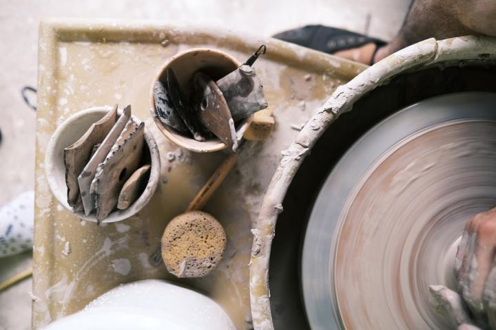 vaas van klei maken