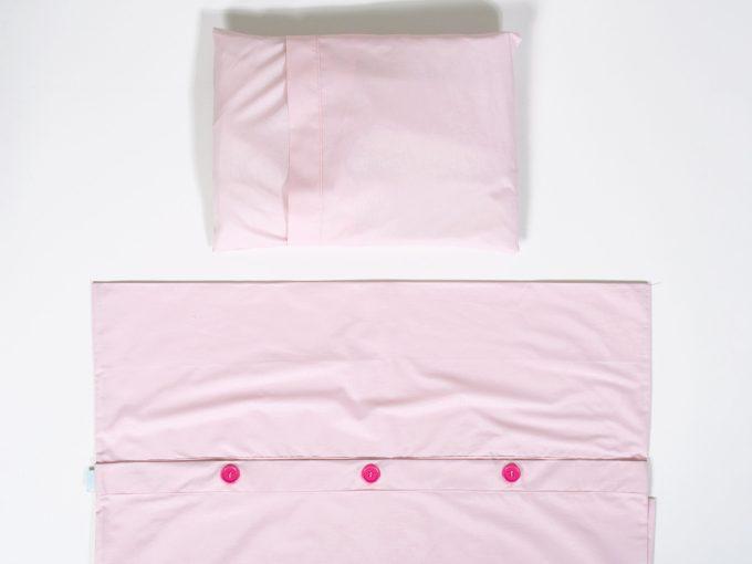 Husă roz pentru pilotă și pernă