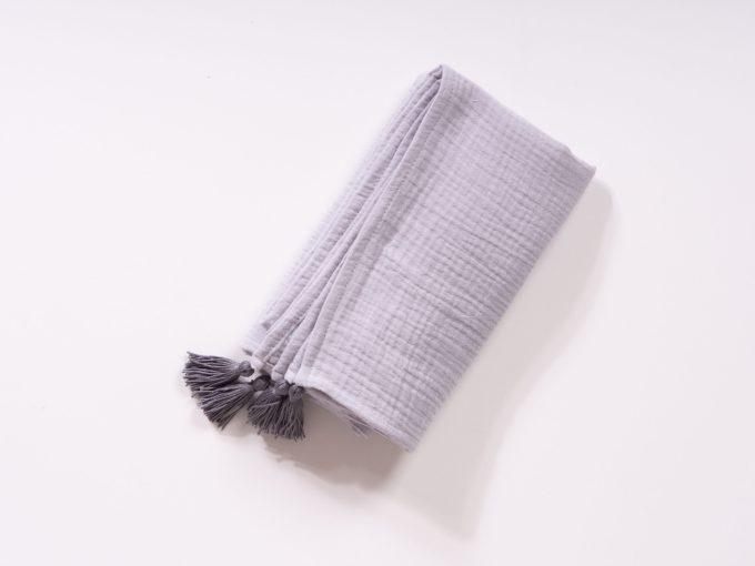 Pătură din muselină din bumbac OEKO-TEX gri