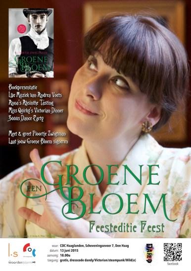 groene bloem feestedtie feest poster web