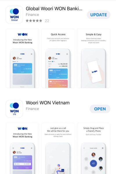 WON APP Wooribank