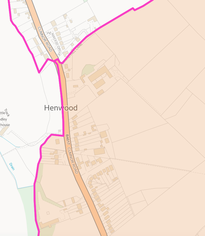 Wootton Parish Henwood Boundary
