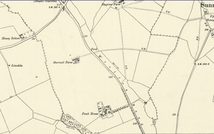 Wootton Parish Map 1900 Berkshire VI SW OS Six inch 2