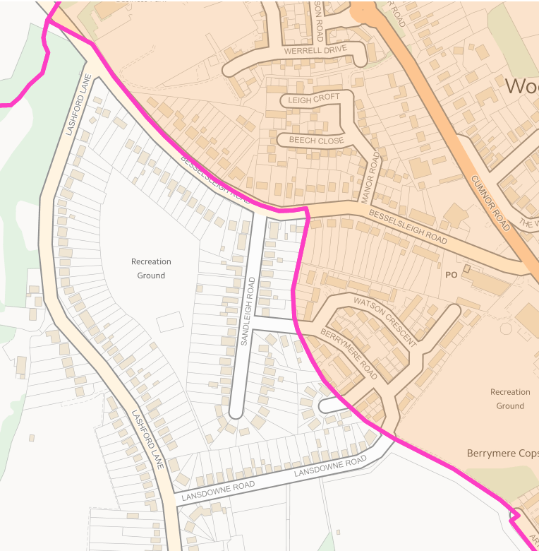 Wootton Parish Sandleigh Road Boundary