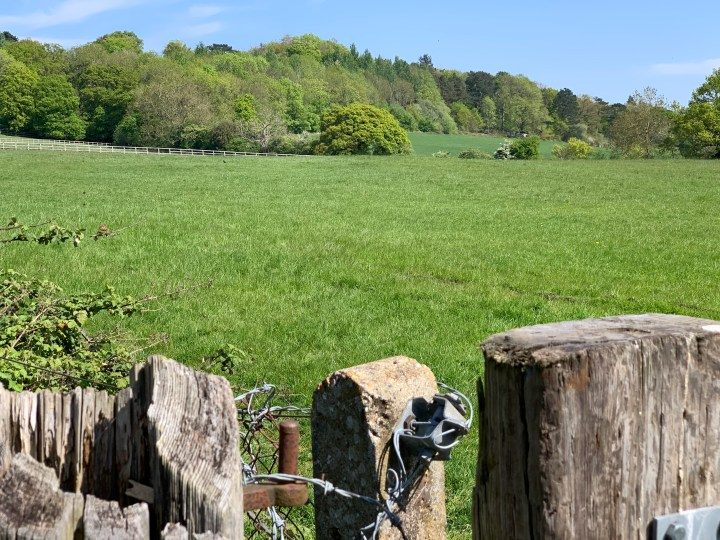 wootton parish old boars hill fence 2 w