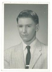 John Rasmussen, high school senior photo, 1960