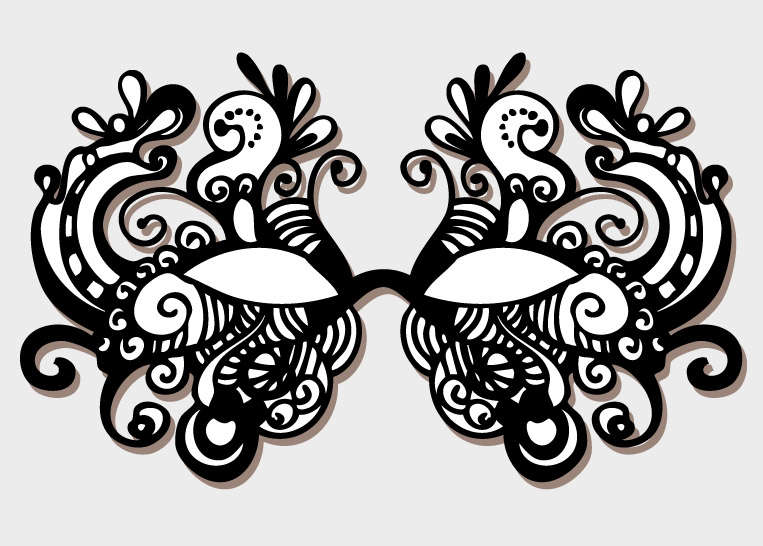 lace masquerade mask template