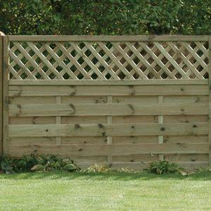 Horizontal Lattice Top Fence Panel 6ft x 4ft