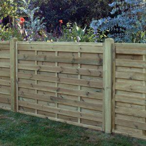 Square Horizontal Fence Panel 6ft x 4ft