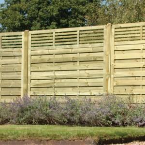 Elite Slatted Top Fence Panel 6ft x 6ft