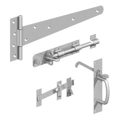 Hinge & Latch Set For Feather Edge Gate