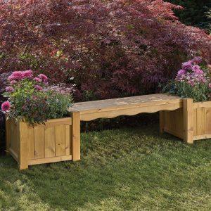 Hanbury Bench with Planters