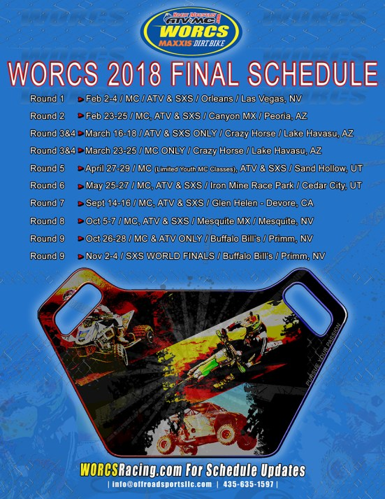 2018 WORCS Schedule 1-17-2018c