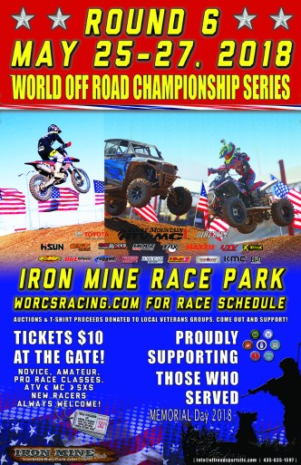 2018 Round 6 Iron Mine Race Park Flyer