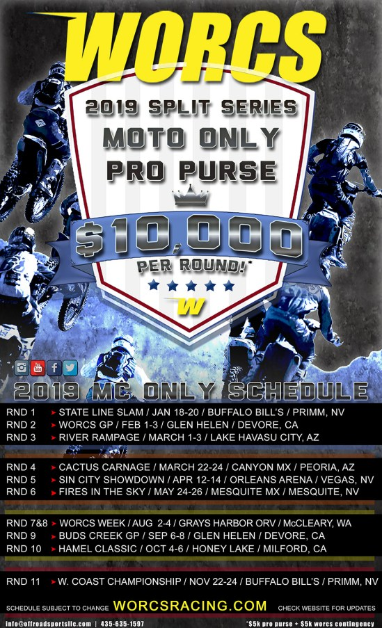 2019 WORCS MC SCHEDULE