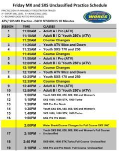 Round 5 2019 Mesquite ATV SXS MX Schedule