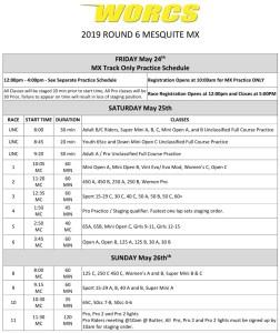Round 6 2019 Mesquite MC Race Weekend