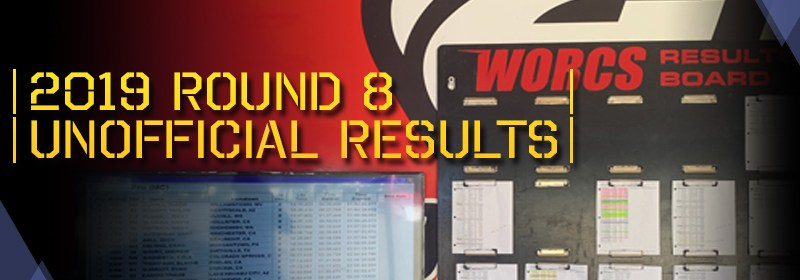 2019 Round 8 Unofficial MC Race Results