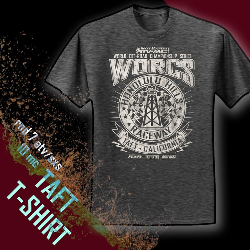 2019 Round 7 ATV/SXS Round 8MC Taft T-Shirt Web