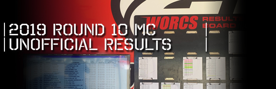 2019 ROUND 10 UNOFFICIAL MC RACE RESULTS