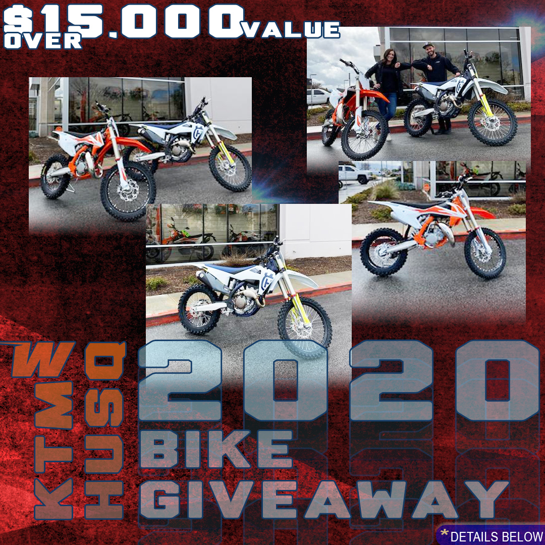 WORCS is proud to announce the great 2020 Husqvarna / KTM bike giveaway!