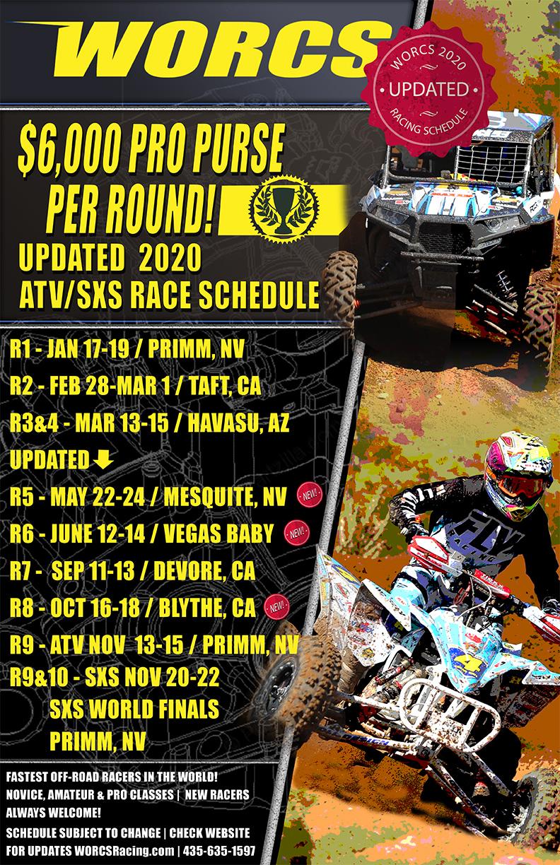 ATV-SXS Schedule - Updated 4-10-2020
