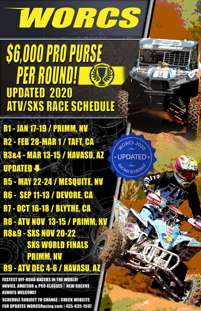 PP 2020 WORCS ATV-SXS Schedule - Updated 7-15-2020