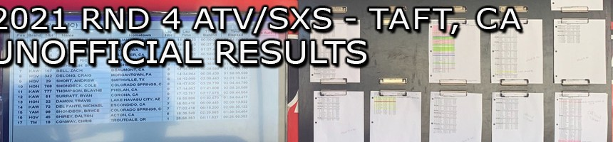 2021 RND 4 ATV SXS UNOFFICIAL RESULTS BOARD