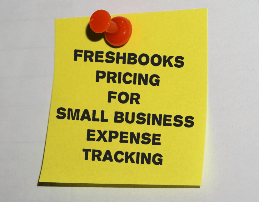 FreshBooks pricing for Small Business Expense Tracking 2019