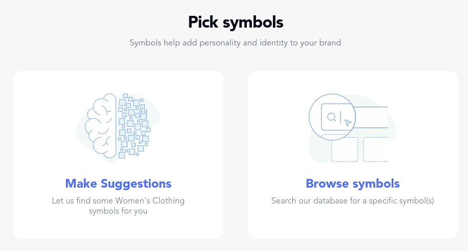 logojoy make selections page