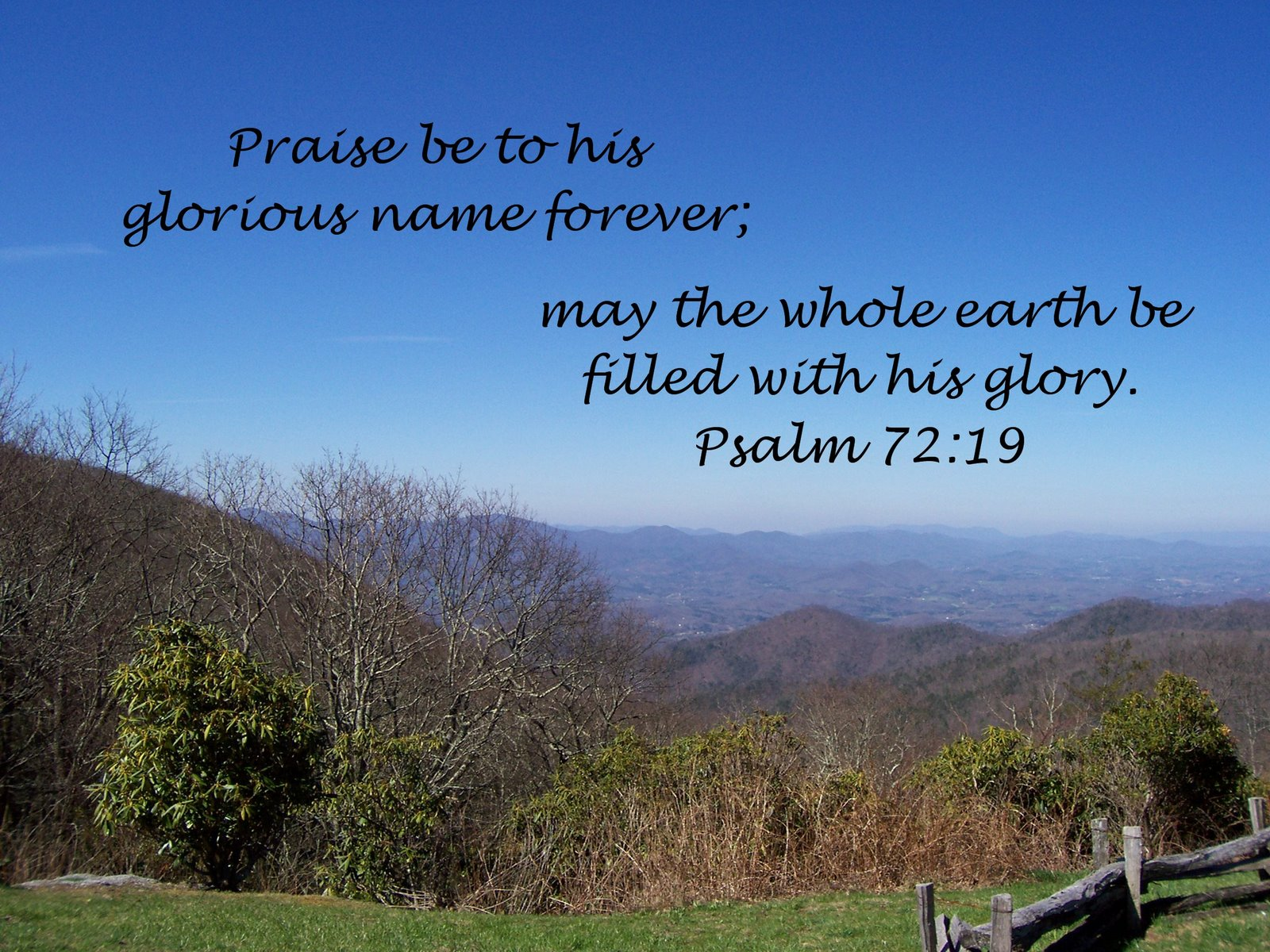 Image result for Psalm 72:19