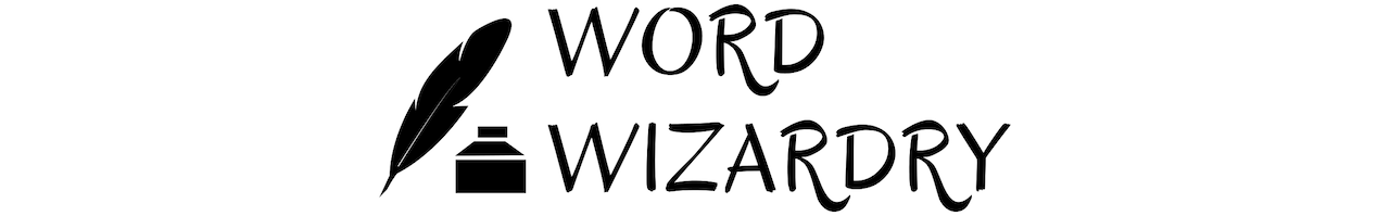 Word Wizardry logo of Word Wizardry and Quill and Inkwell