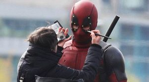 On location at Deadpool shoot in Vancouver, BC. Courtesy of Dorkly