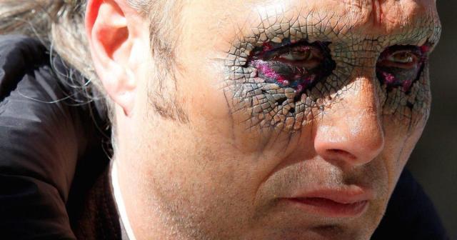A closeup of Mad Mikkelsen's eye makeup in Doctor Strange.