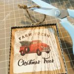 Christmas Red Truck Farmhouse Wreath Word Home