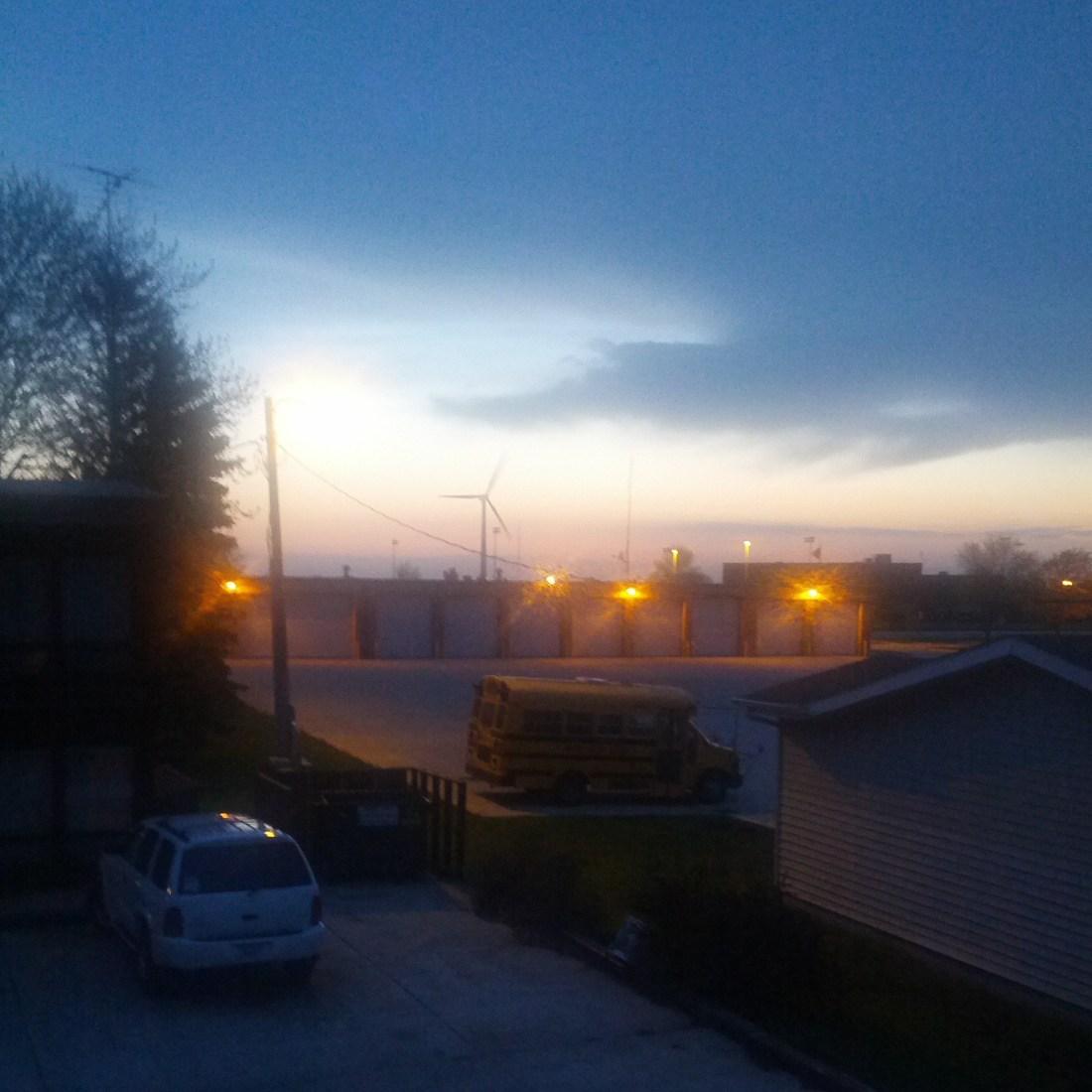 blurry stormy sky