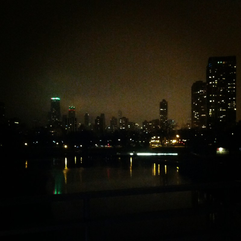 dark city skyline