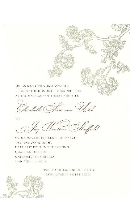 Elisabeth and Jay's Wedding Invitation