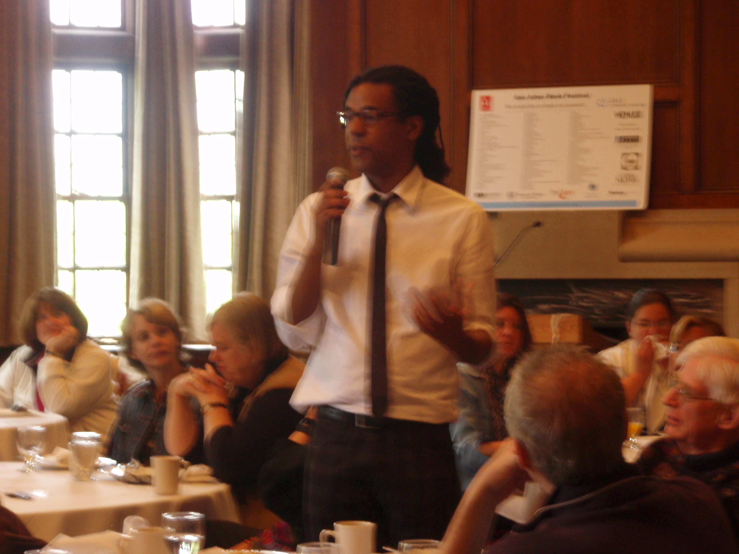 Colson Whitehead at author breakfast