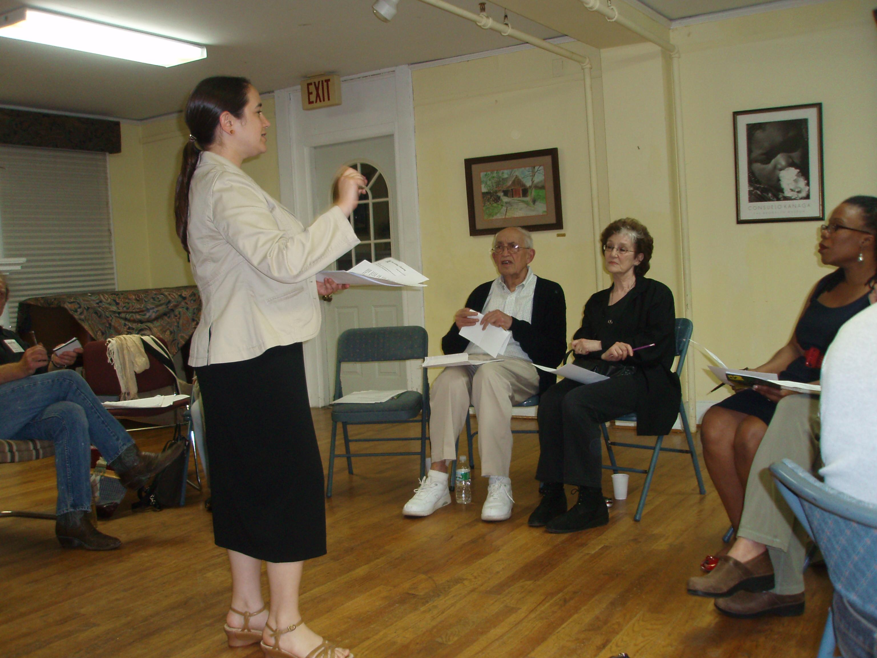 Giving a similar talk in Maplewood, NJ (summer 09)