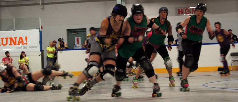 Foxy Peroxide watches Ginny Wheelsly slam an Uprising player.
