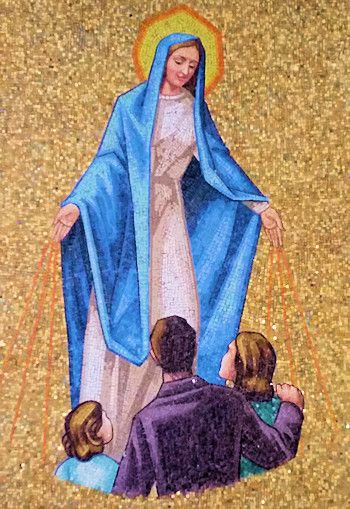 Mary Blessed Mother ministering to aborted children