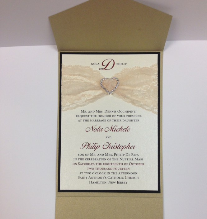 Custom Listing 20 Ivory Peach Wedding Invitation Vintage Lace Invitations Rustic Belly Band New