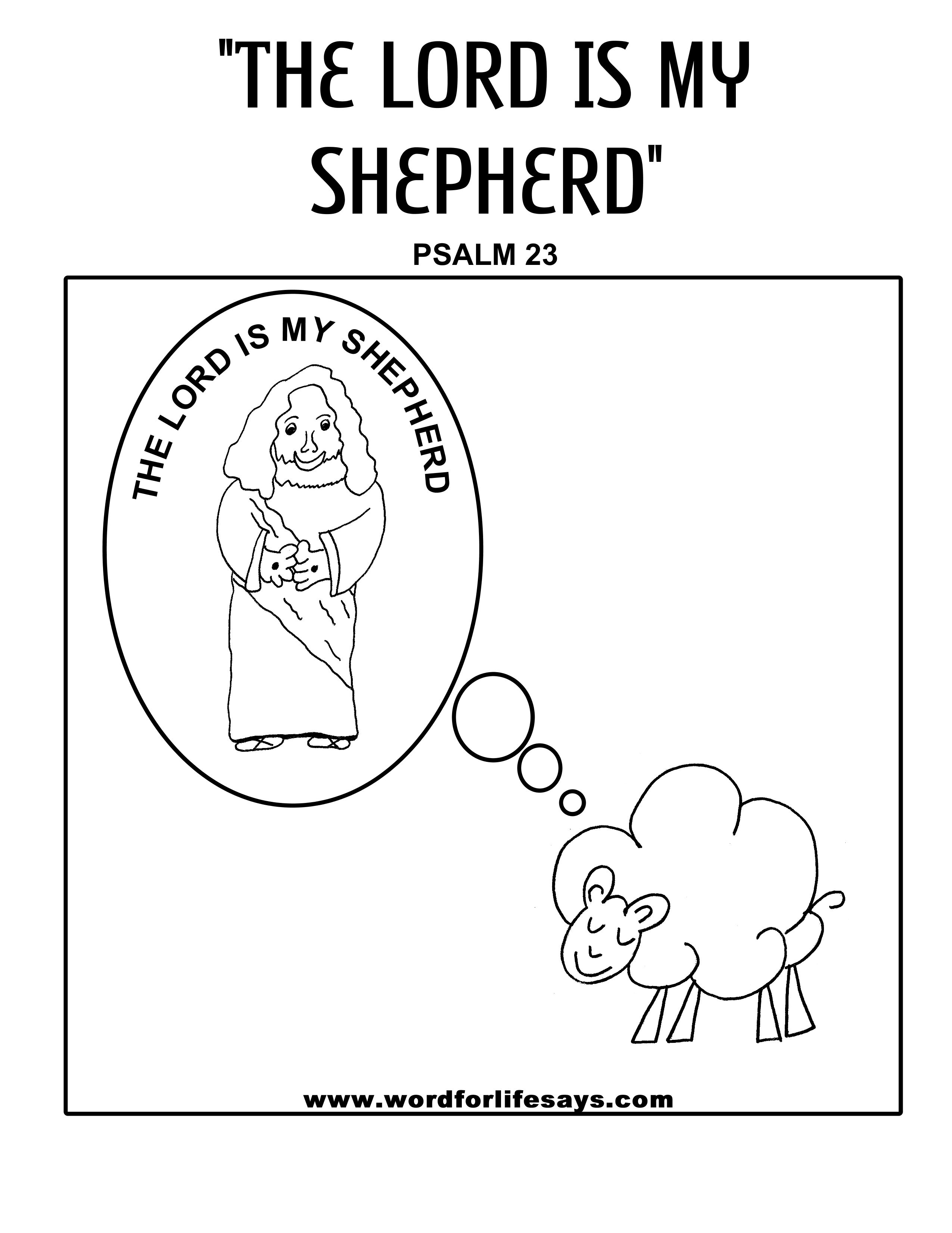 Psalm 23 Lamb coloring page | Sunday school coloring pages, Bible ... | 3300x2550