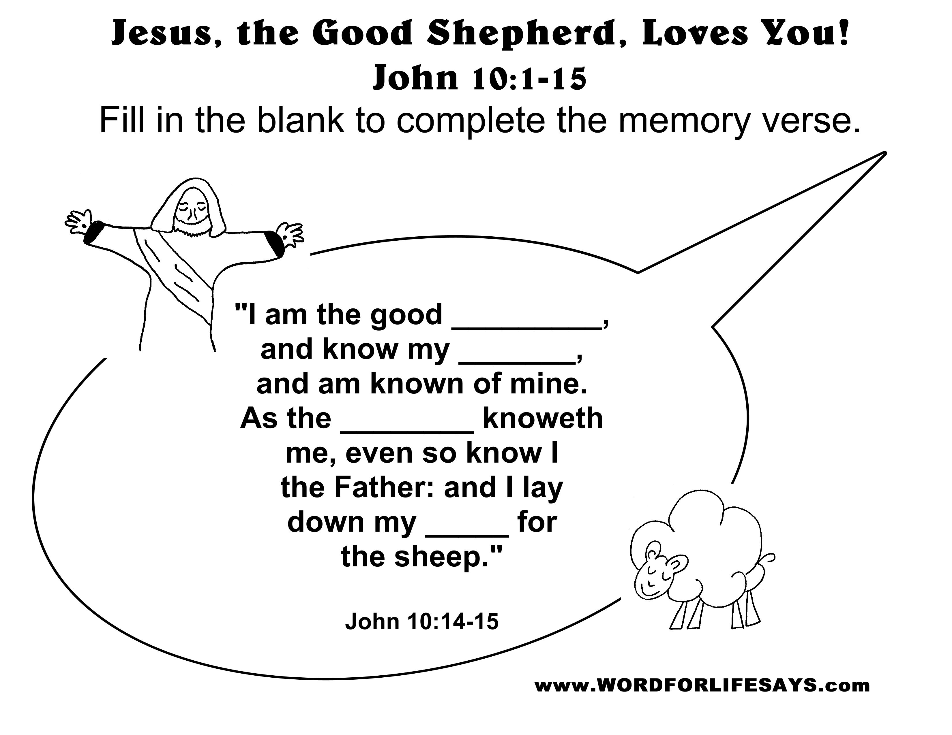 Parable Of The Good Shepherd For Kids